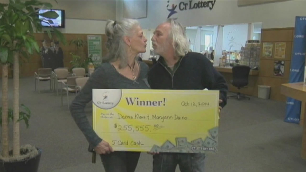 A big lotto win is helping Dennis Klaus and Maryann Daino start all over again after they lost everything to Hurricane Sandy.