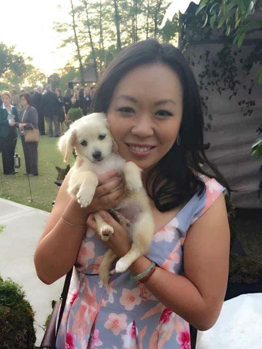 "<div class=""meta image-caption""><div class=""origin-logo origin-image none""><span>none</span></div><span class=""caption-text"">Miya Shay with an adorable adoptable puppy (KTRK Photo)</span></div>"