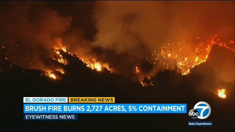 Valley Fire Burns 4 000 Acres In Japatul Valley Area Of San Diego County Abc7 Los Angeles
