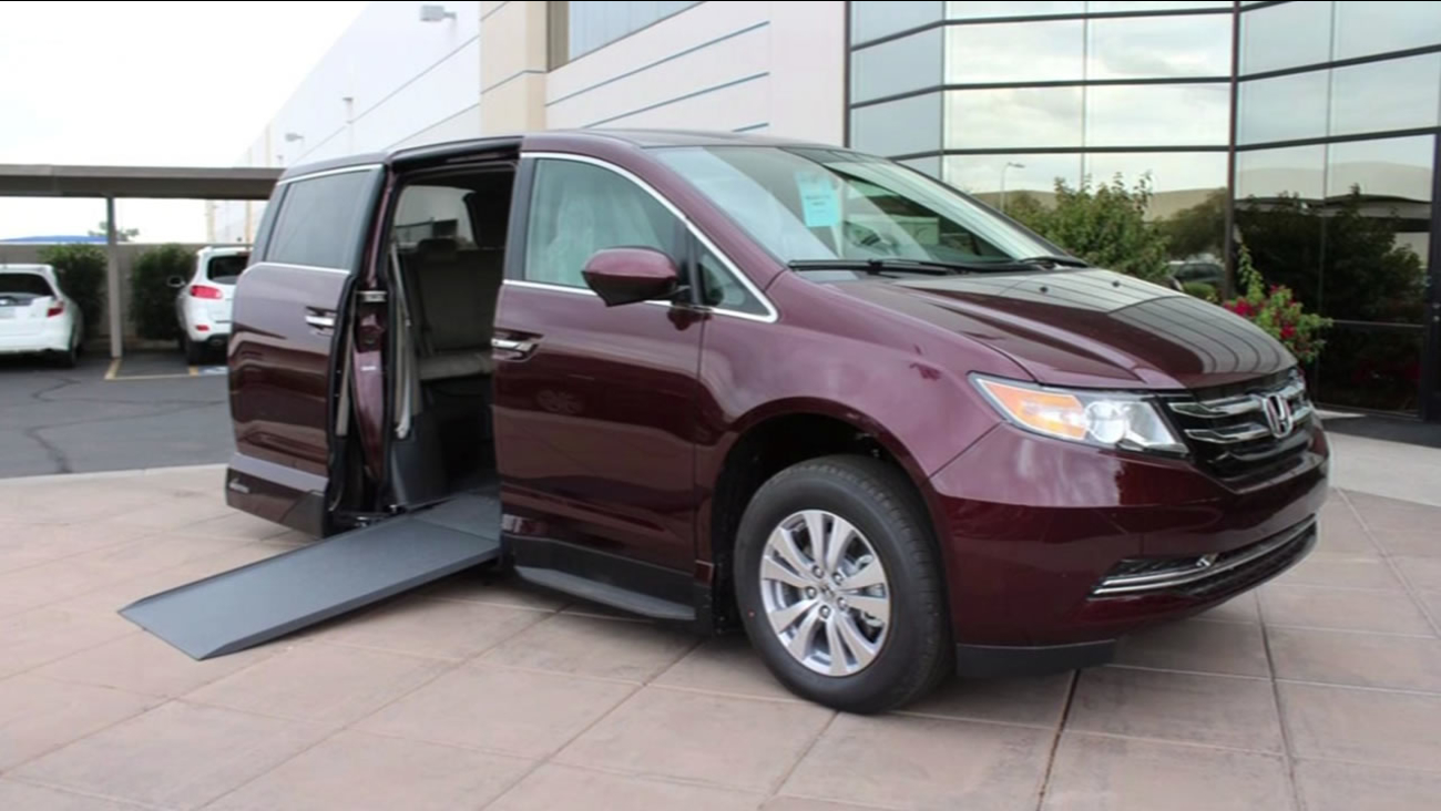 A van like this that's custom designed for people with disabilities was stolen from a home in Fremont, Calif. in April 2015.