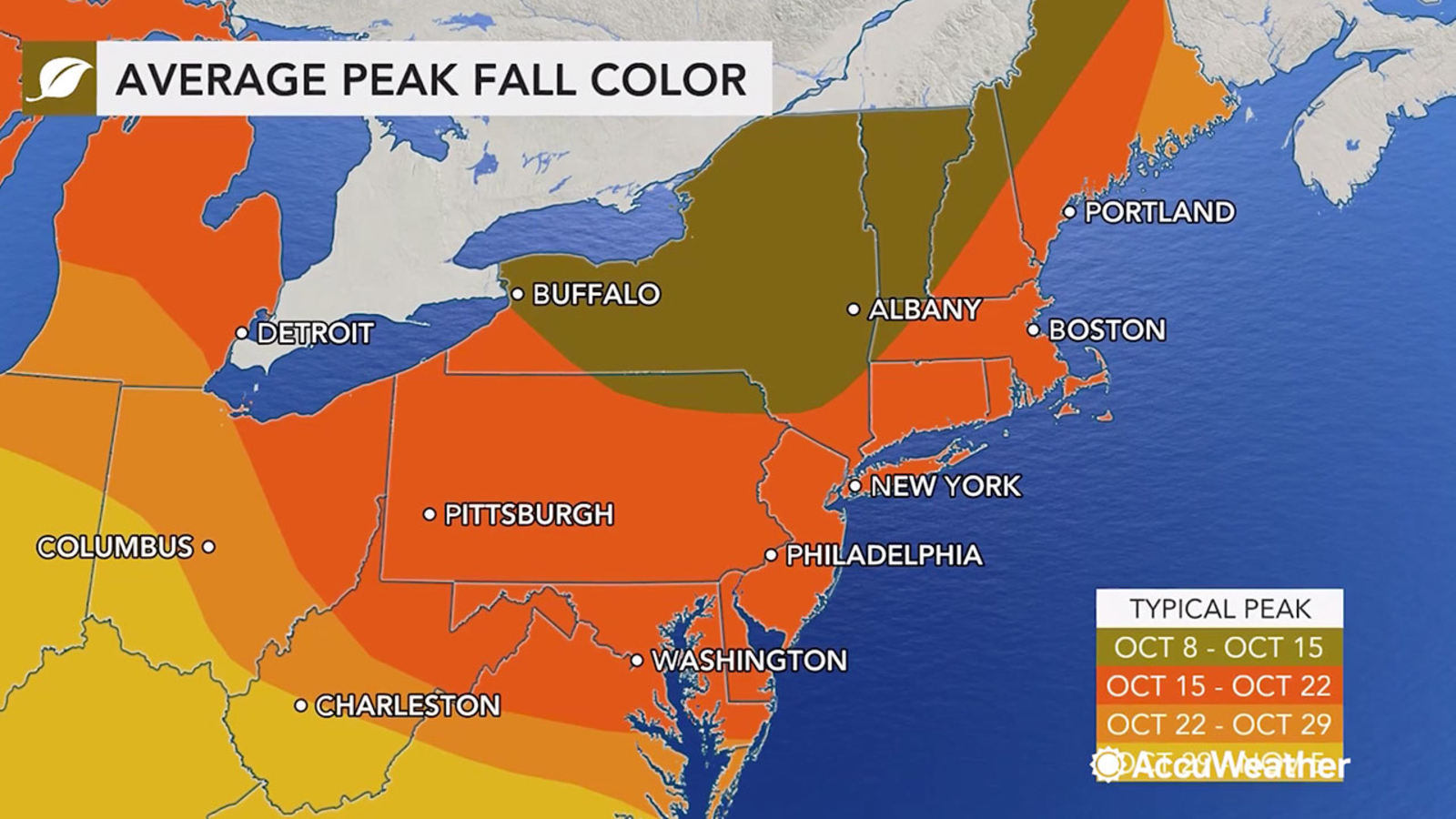 Fall Foliage 2020 When To Expect The Peak In New York Pennsylvania And New England Abc7 New York