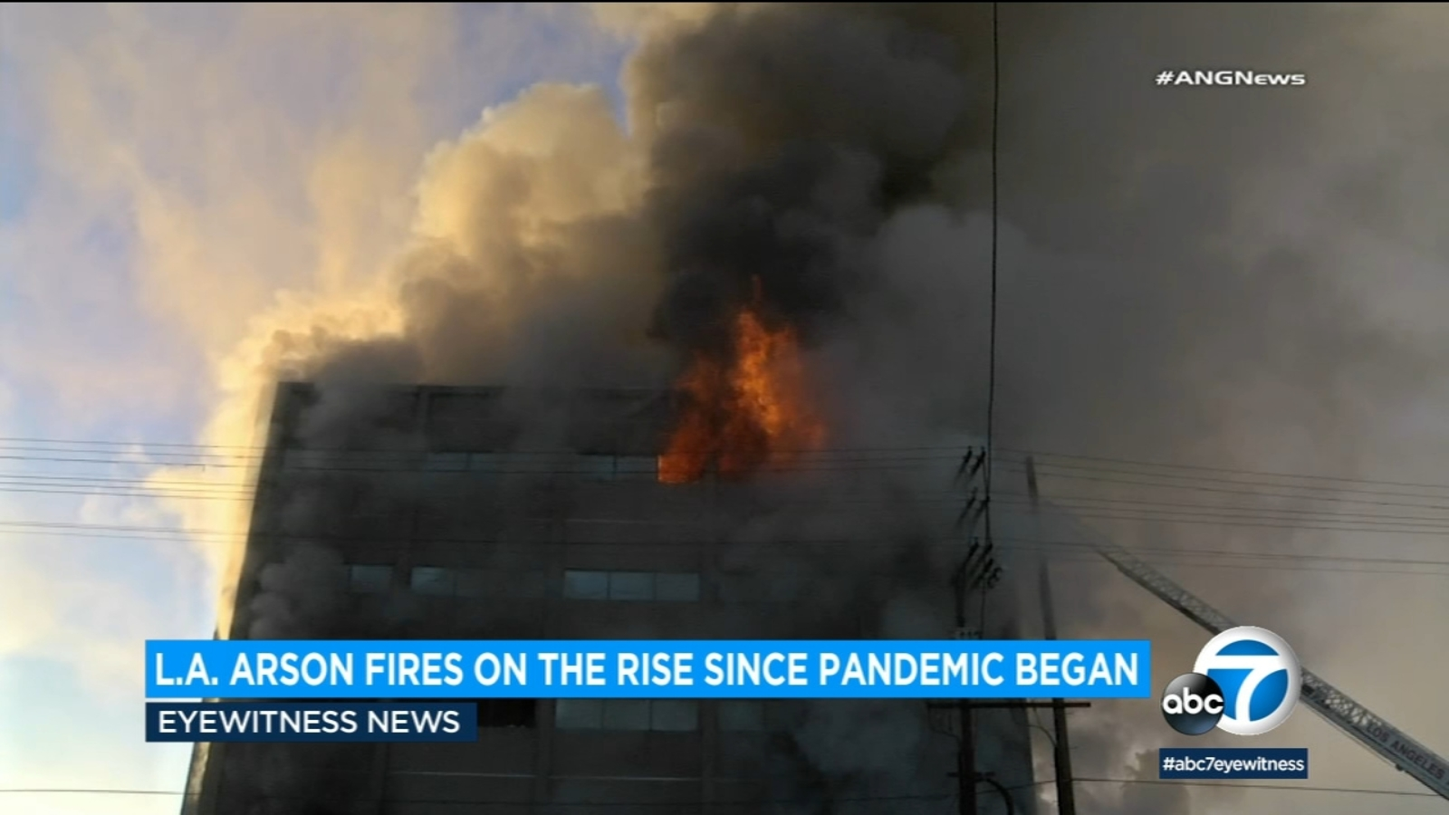 LA arson fires increasing amid COVID-19 pandemic, LAPD data shows