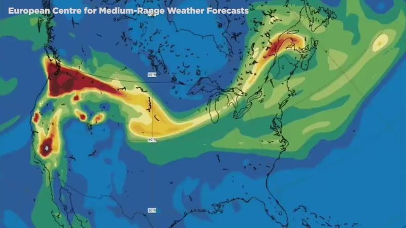 Satellites Show Smoke From Us Wildfires Reaches Europe Abc7 New York