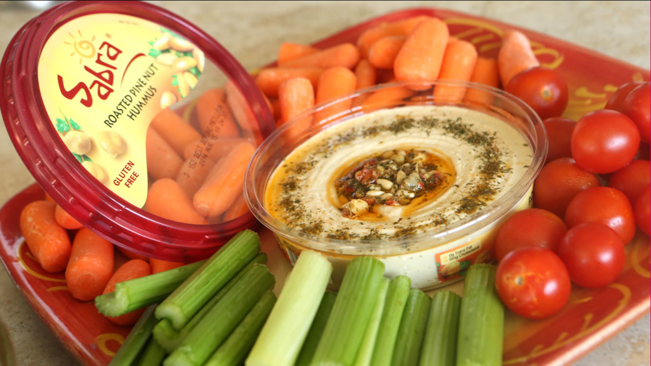 Sabra hummus with veggies