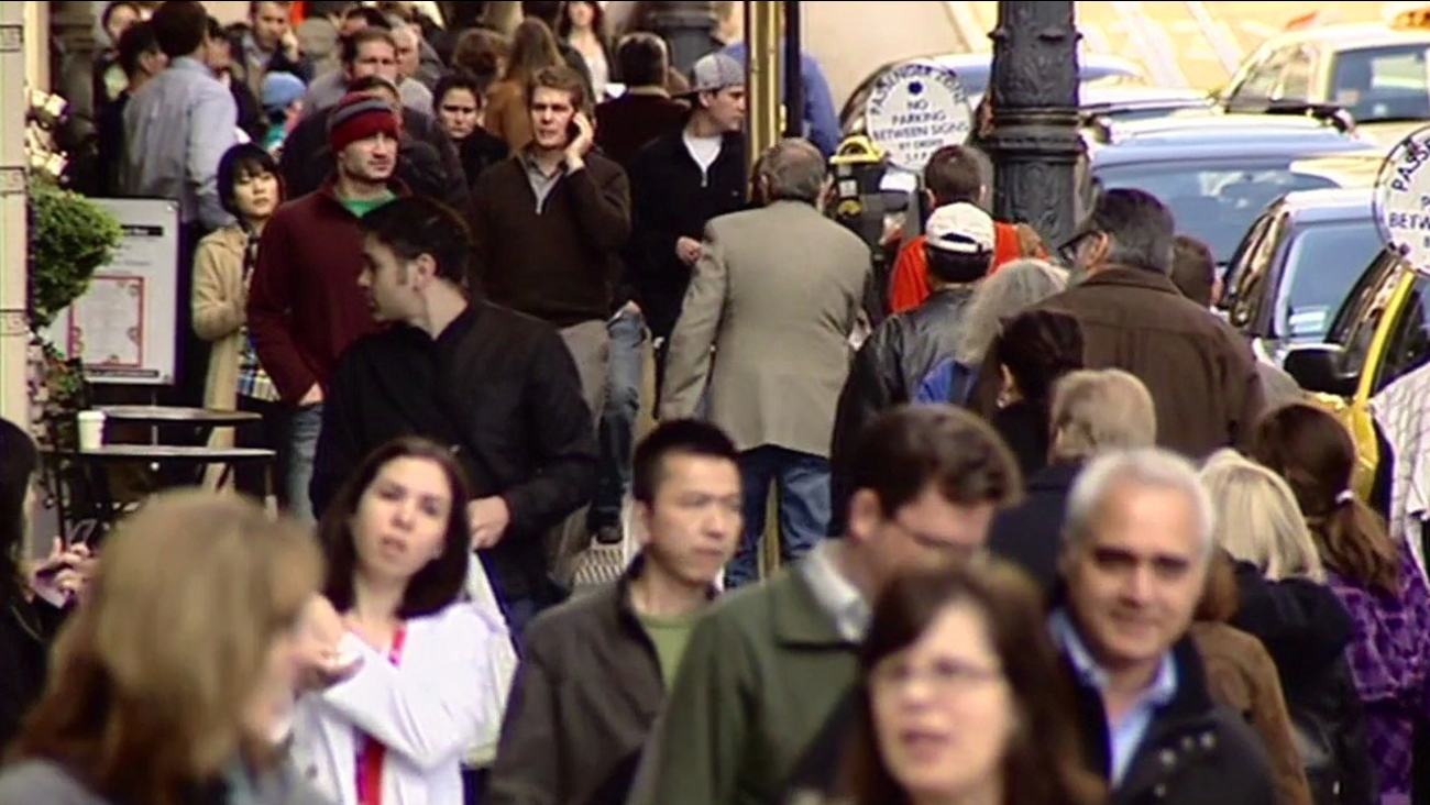 Pedestrians in San Francisco