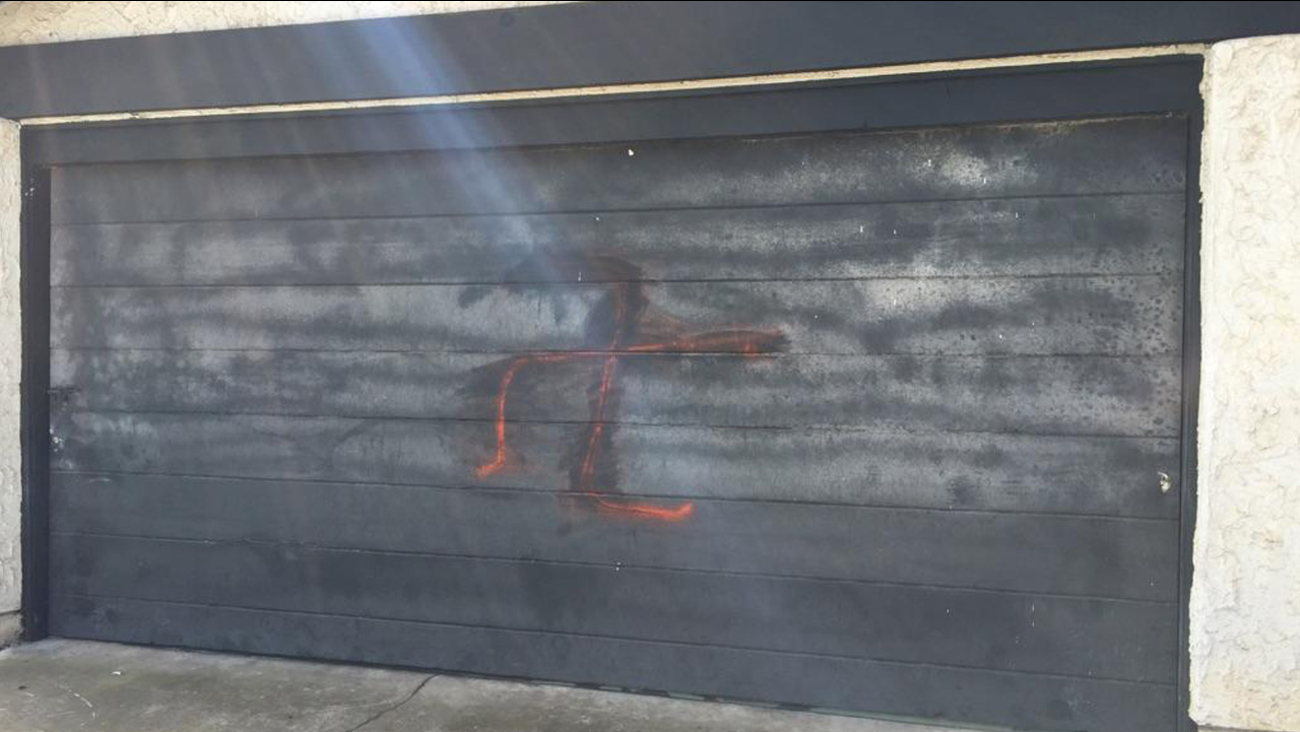 Swastikas were painted outside the home of a Jewish family who recently moved to San Diego from Israel.
