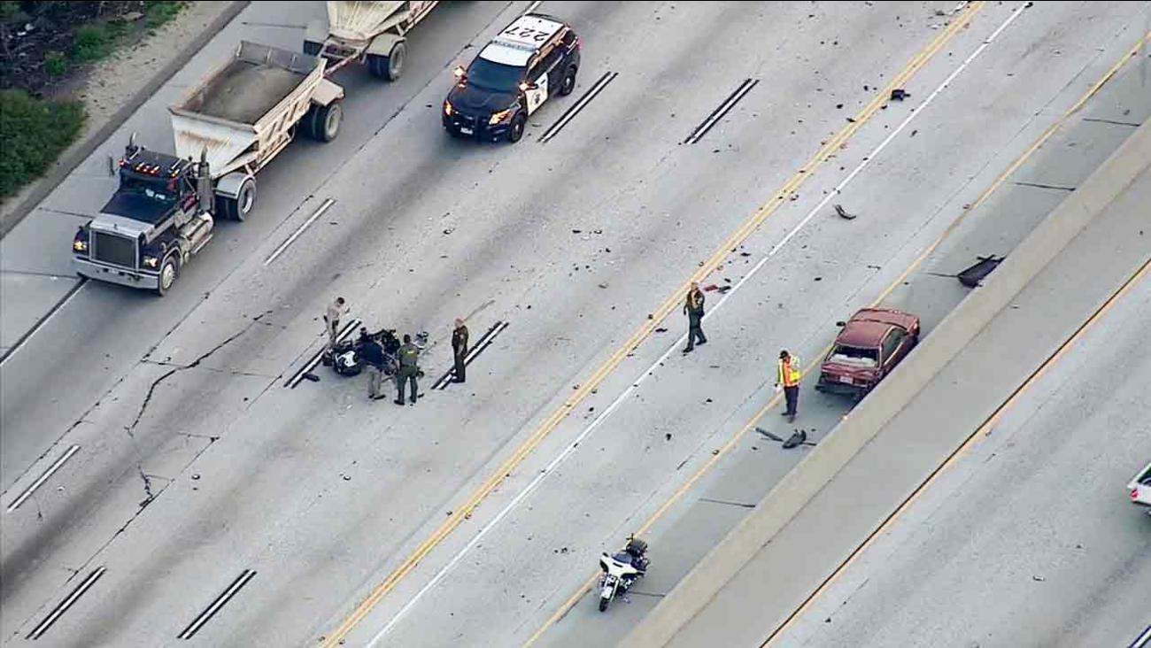 Orange County motorcycle deputy injured in Diamond Bar crash | abc7 com