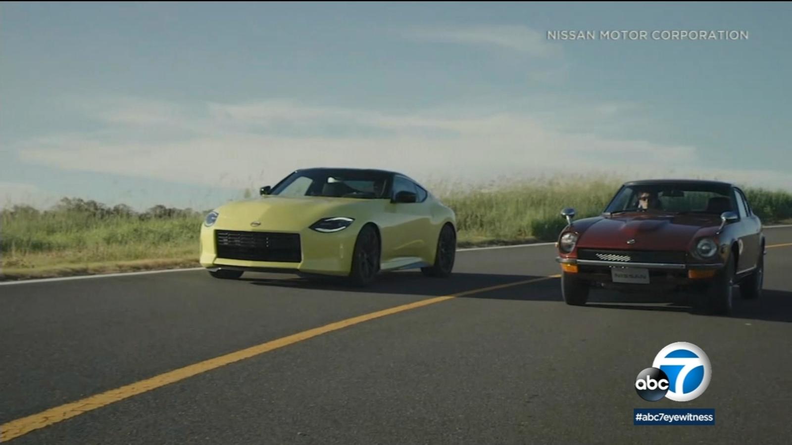 New Nissan Z sports car pays tribute to original Datsun 240Z -TV thumbnail