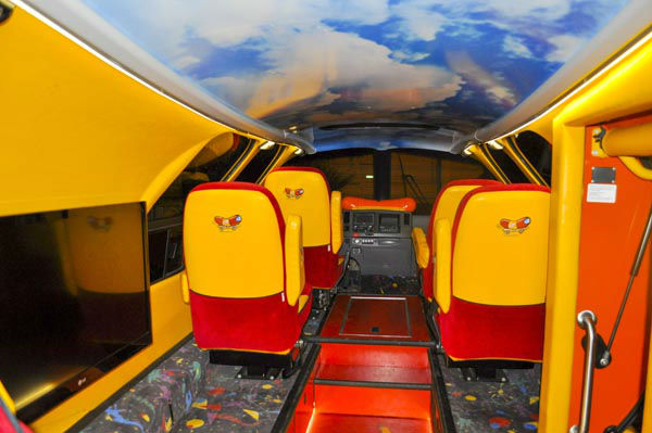 photos inside the oscar mayer wienermobile. Black Bedroom Furniture Sets. Home Design Ideas