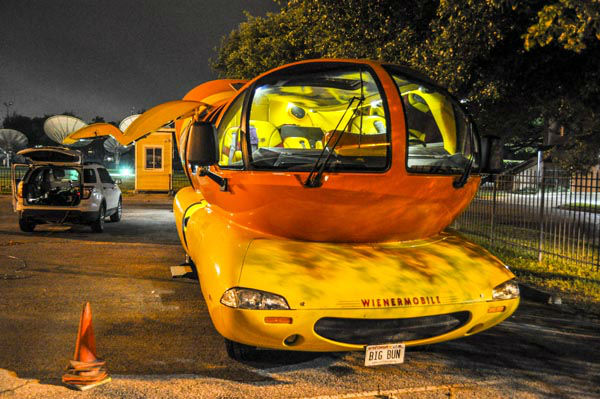 """<div class=""""meta image-caption""""><div class=""""origin-logo origin-image none""""><span>none</span></div><span class=""""caption-text"""">The Oscar Mayer Wienermobile made a stop at the ABC-13 studios in Houston this morning (KTRK Photo)</span></div>"""