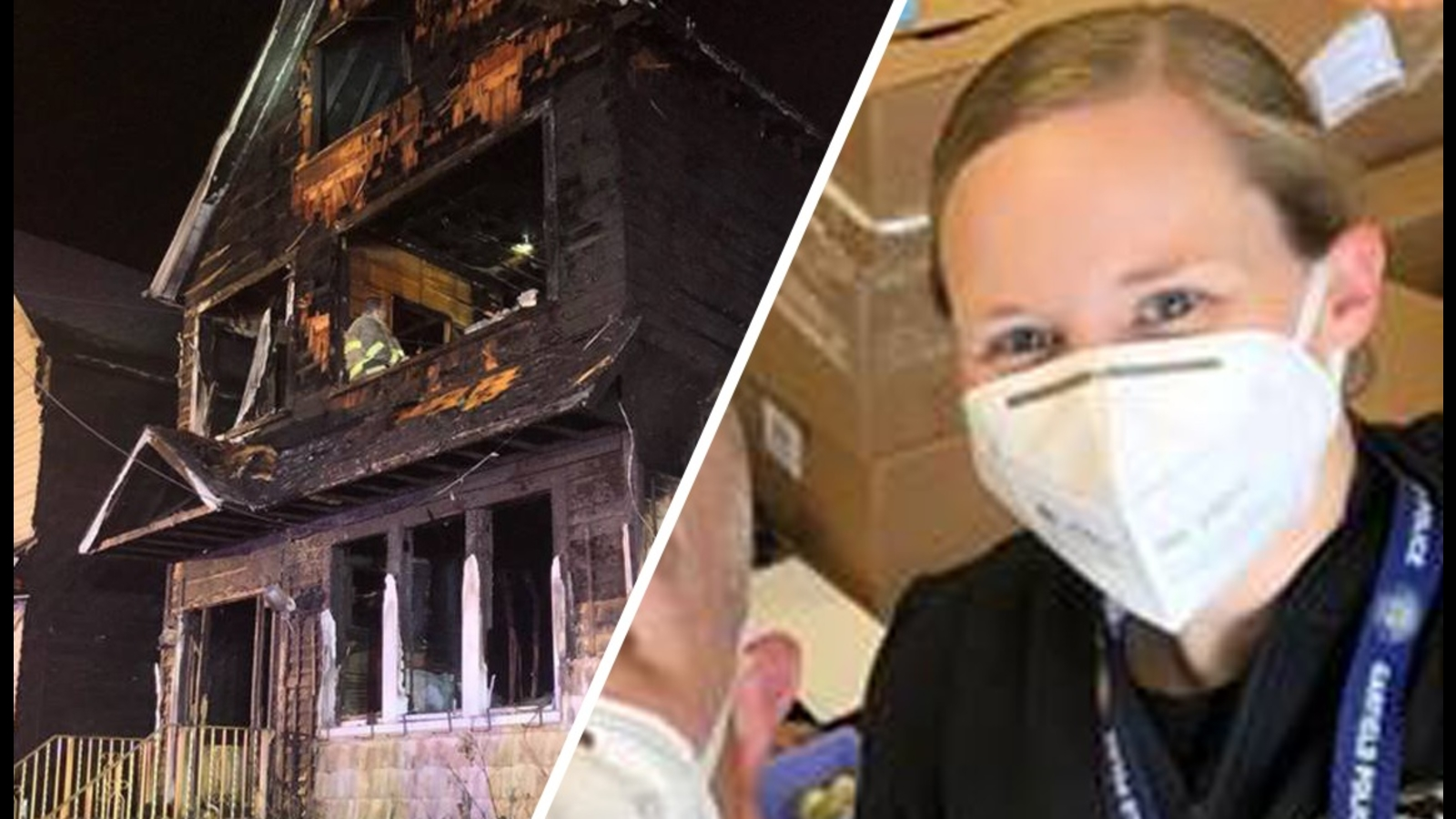 Fair Lawn Police Officer Rebecca Schmidt S Home Destroyed In Massive Fire Abc7 New York