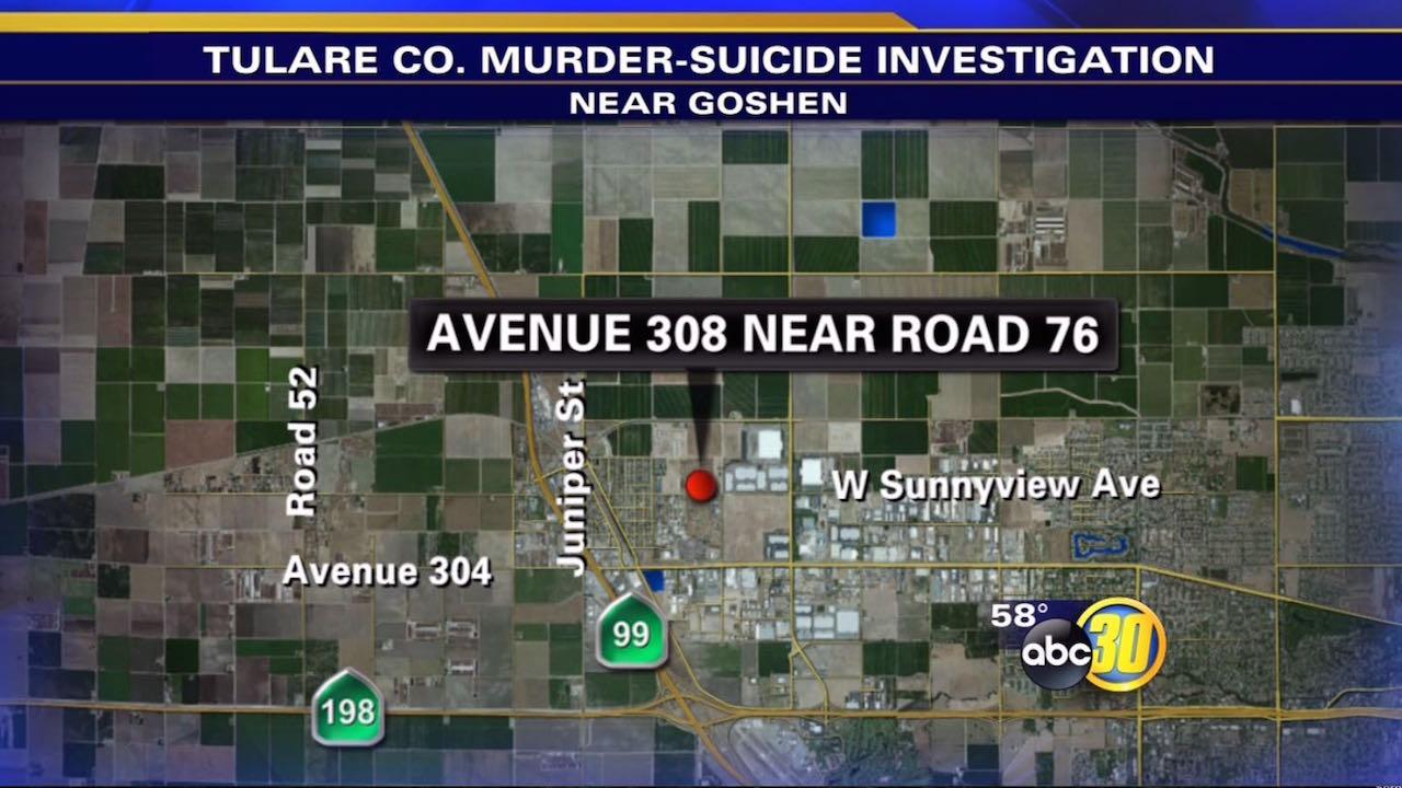 Goshen, California murder suicide location