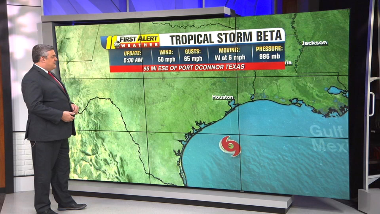 National Hurricane Center Tropical Storm Beta Tracker Shows Storm Approaching Parts Of Texas And Louisiana Abc11 Raleigh Durham