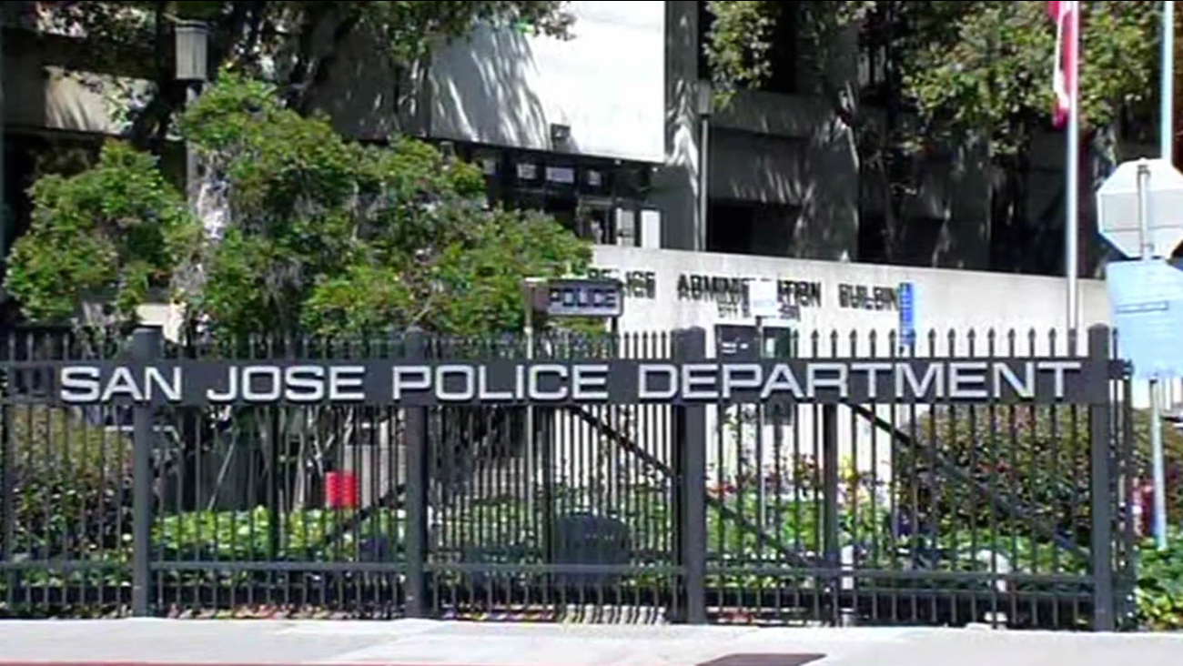 San Jose Police Department front gates