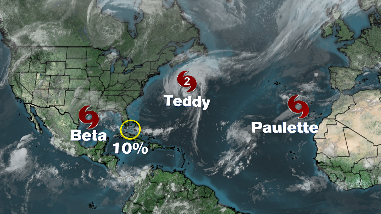 National Hurricane Center Beta Storm Weakens To Tropical Depression Stalls Over Texas Abc7 Chicago