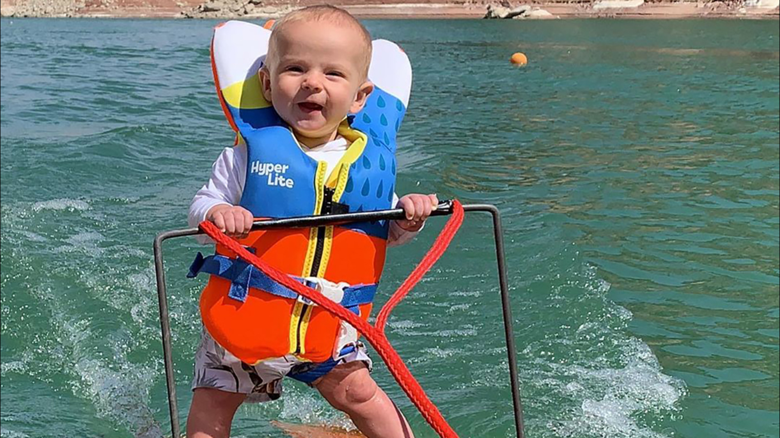 Parents defend viral video of 6-month-old son waterskiing