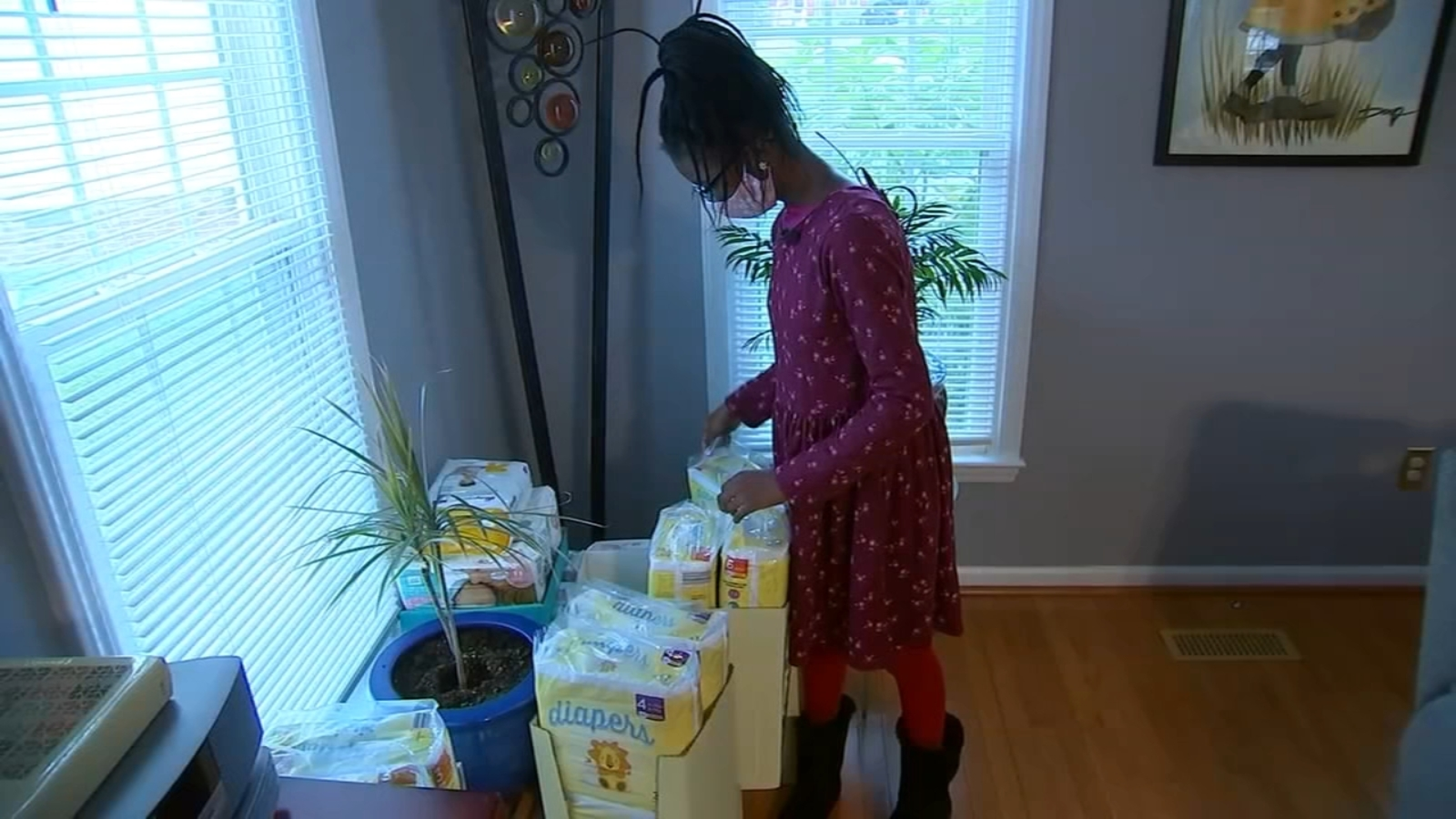 Raleigh 12-Year-Old Collects More Than 9,000 Diapers for Families in Need