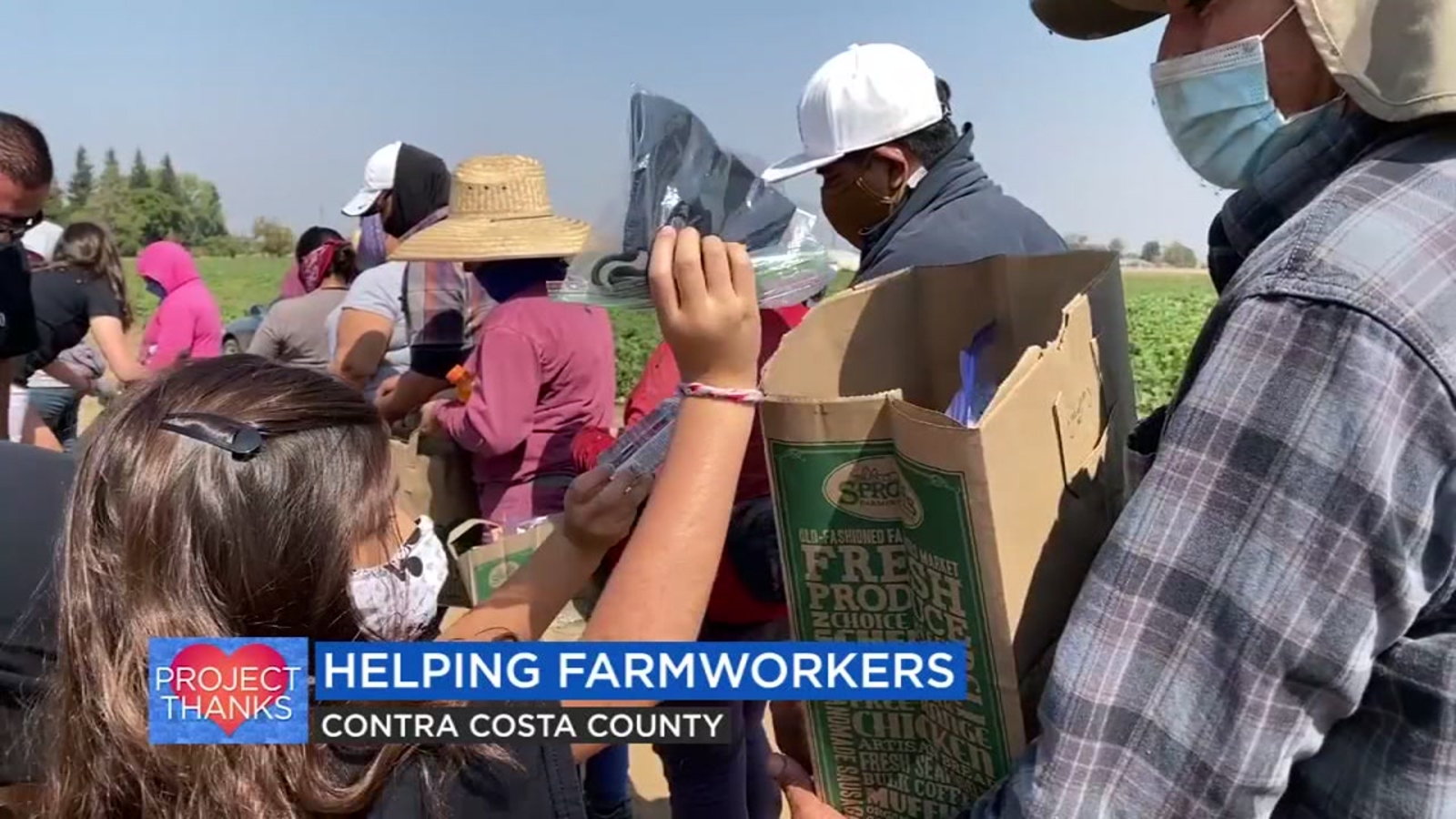 Women Provide Essential Goods For Farmworkers Working Through Wildfires And COVID-19