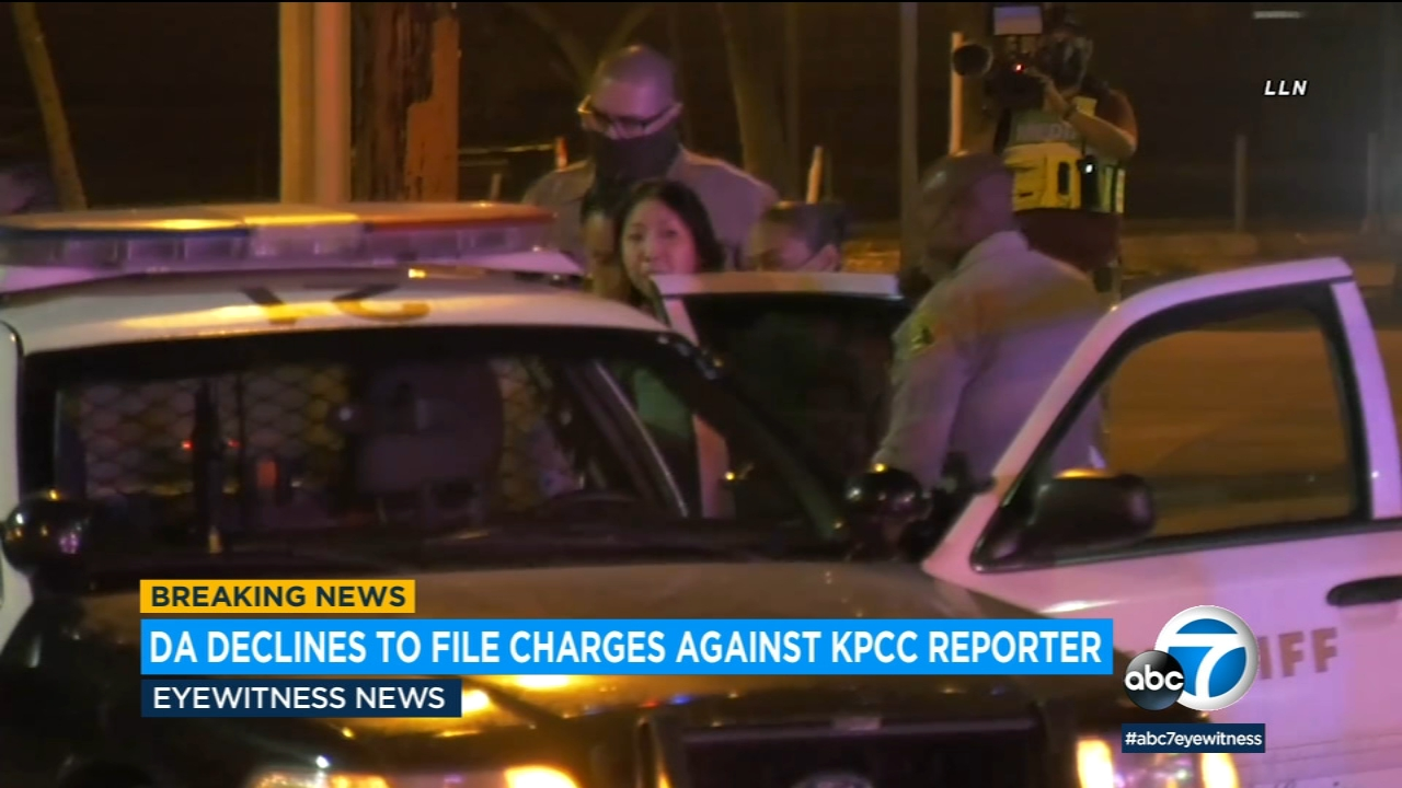 DA declines to file charges against KPCC reporter arrested by deputies