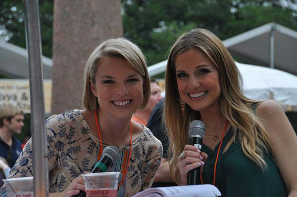 """<div class=""""meta image-caption""""><div class=""""origin-logo origin-image none""""><span>none</span></div><span class=""""caption-text"""">ABC-13's own Kaitlin McCulley and Katherine Whaley emceed the Art Car Parade (KTRK Photo)</span></div>"""