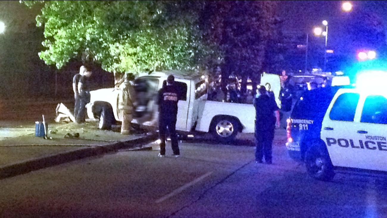Deadly crash involving pickup truck