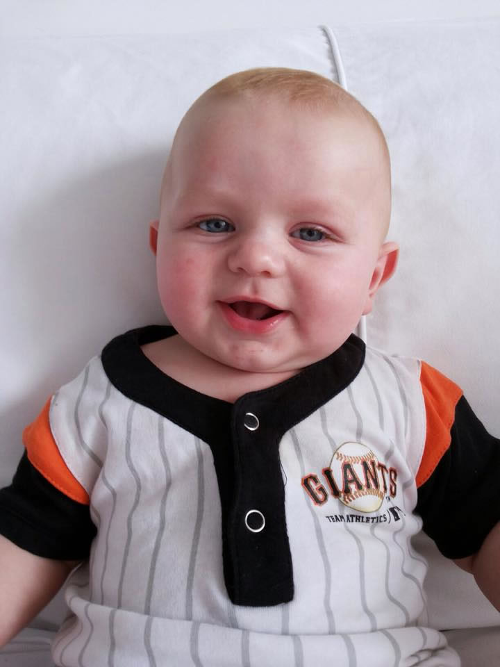 "<div class=""meta image-caption""><div class=""origin-logo origin-image none""><span>none</span></div><span class=""caption-text"">Let's play ball - it's opening day at AT&T Park! ABC7 News viewer Cassie Vernon sent in this image of a tiny Giants fan, April 13, 2015. (Cassie Vernon via Facebook)</span></div>"