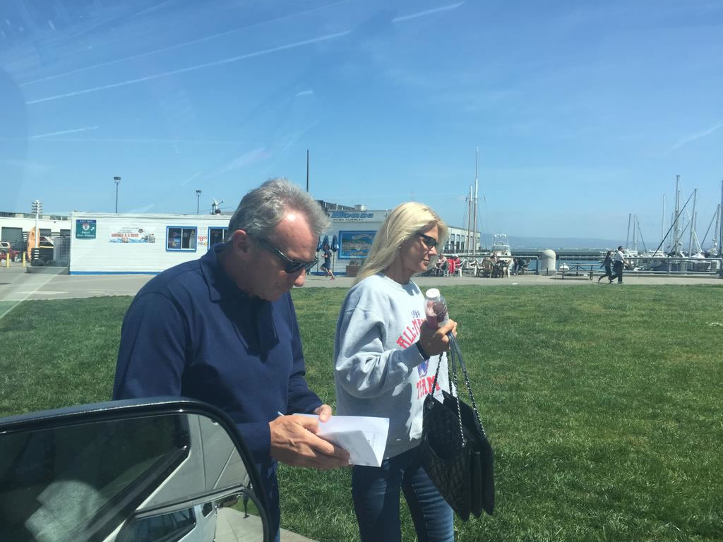 "<div class=""meta image-caption""><div class=""origin-logo origin-image none""><span>none</span></div><span class=""caption-text"">It's opening day at AT&T Park!  49ers great Joe Montana and his wife were headed to the Giants game Monday, April 13, 2015. (KGO-TV/Lyanne Melendez)</span></div>"