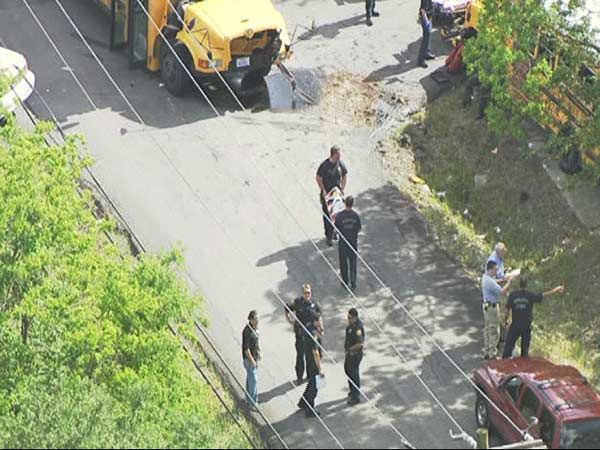 """<div class=""""meta image-caption""""><div class=""""origin-logo origin-image none""""><span>none</span></div><span class=""""caption-text"""">At least one bus driver and several students were injured after two school buses collided in northeast Houston.</span></div>"""