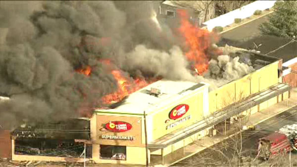 """<div class=""""meta image-caption""""><div class=""""origin-logo origin-image none""""><span>none</span></div><span class=""""caption-text"""">A five-alarm fire destroyed a C-Town grocery store Monday afternoon in South Amboy, NJ. (WABC Photo/ WABC)</span></div>"""