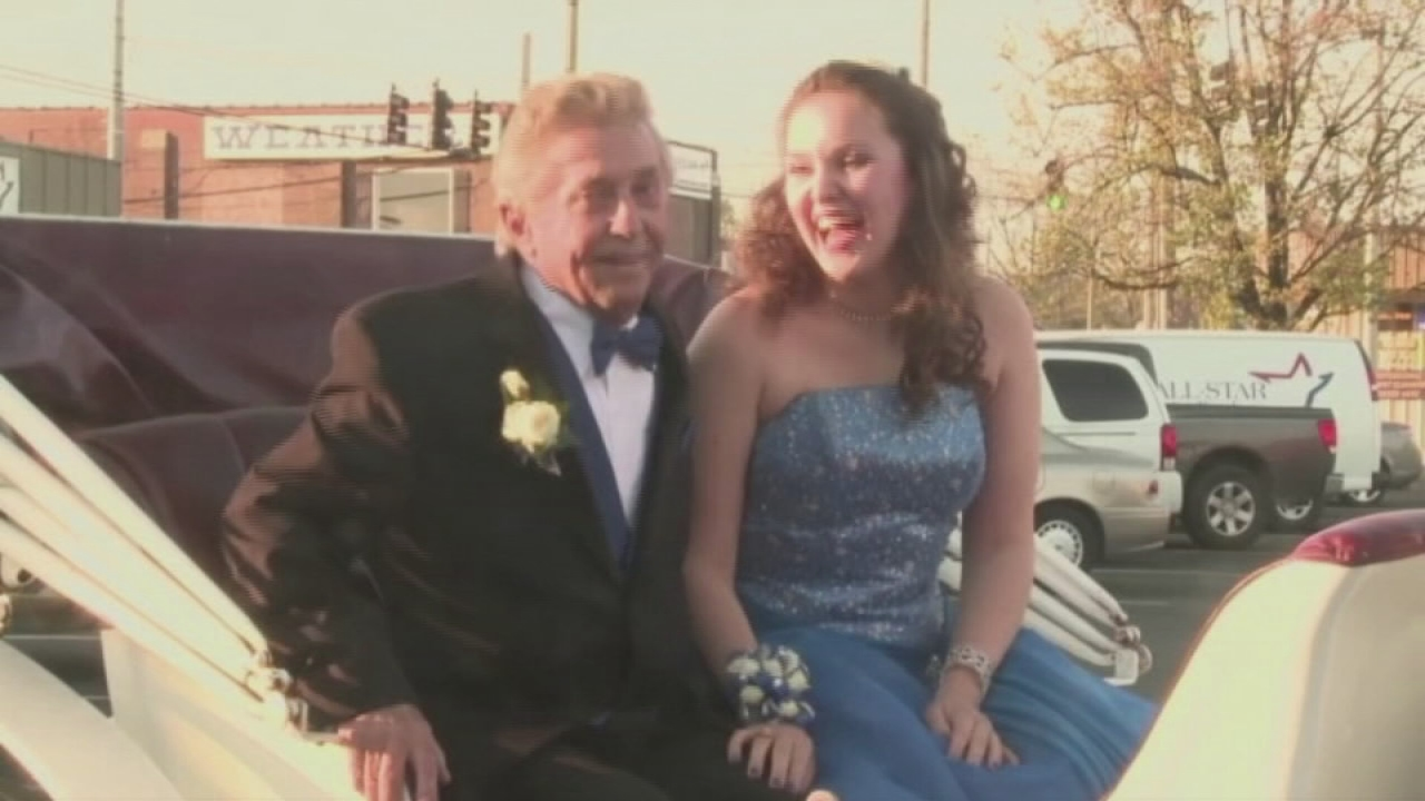 Teen Invites Her 80-Year-Old Grandfather To Prom  Abc13Com-8103