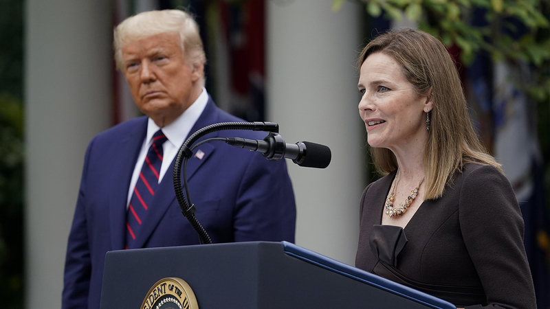 Amy Coney Barrett: Trump's Supreme Court nominee hailed by right, feared by  left - ABC13 Houston