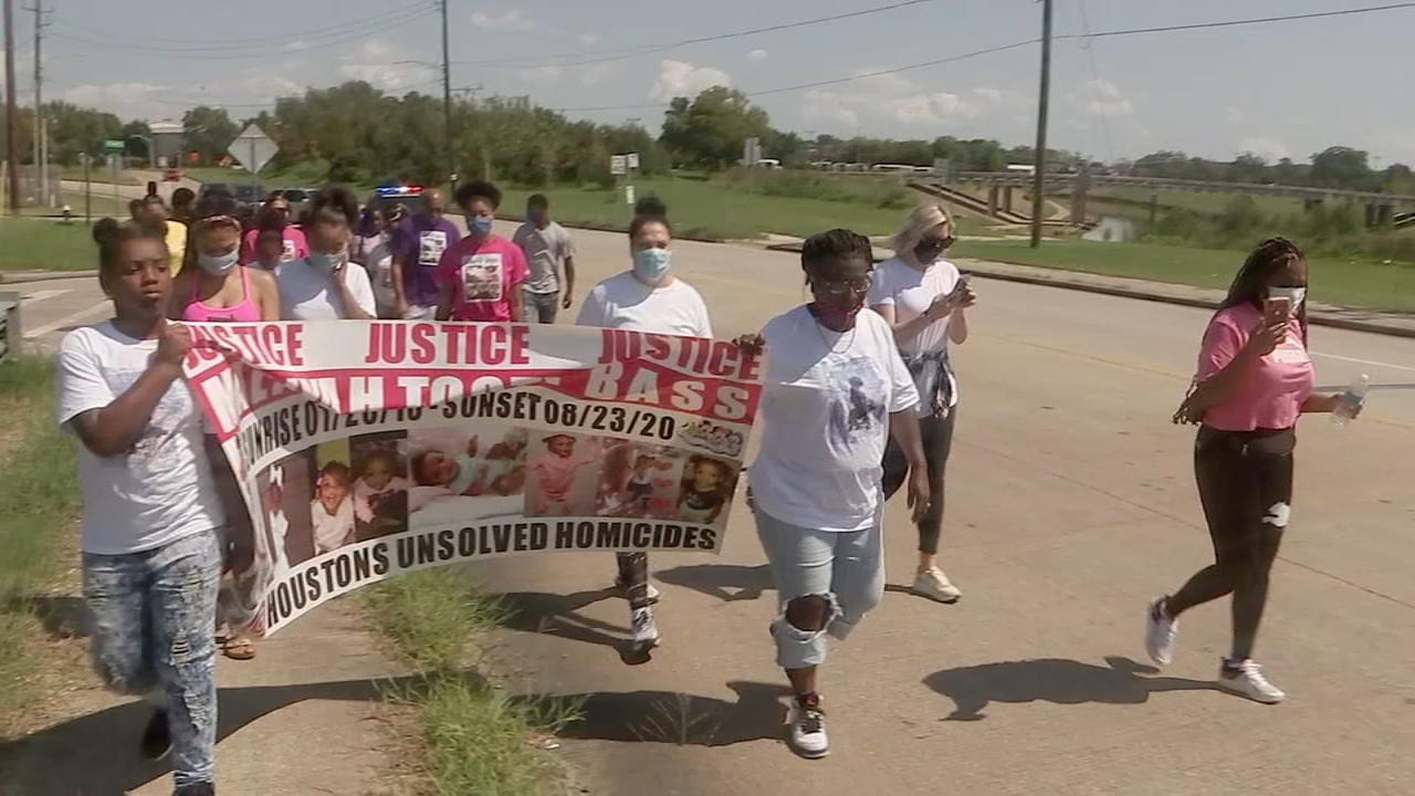 2-year-old Maliyah Bass whose body was found in southeast Houston bayou honored with 'justice walk'