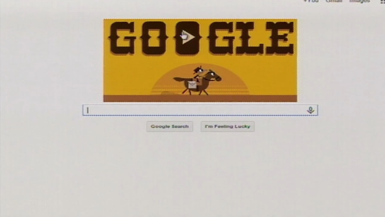 The Google Doodle for April 14, 2015 celebrates 155 years since the Pony Express.