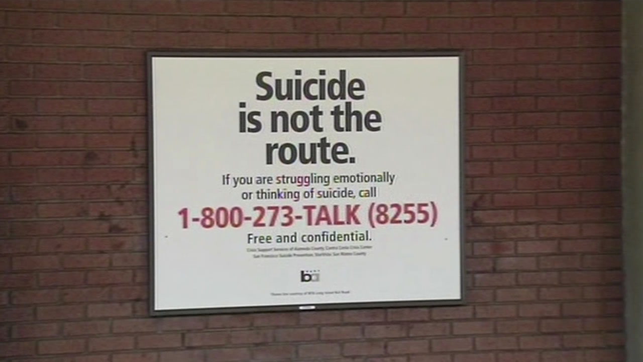 BART launches a suicide prevention ad campaign.