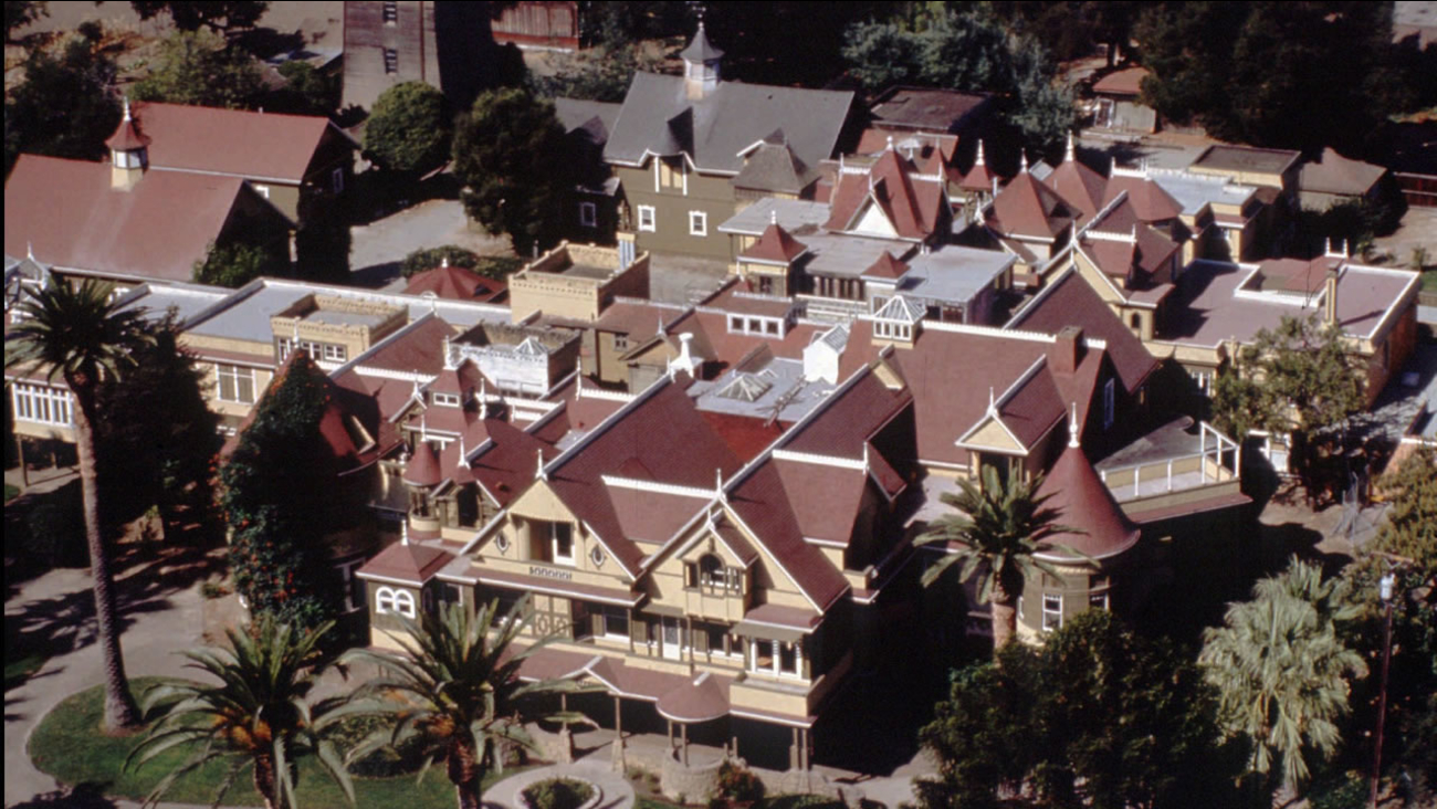 This is an aerial view, taken in 1994, of the Winchester Mystery House in San Jose, Calif.