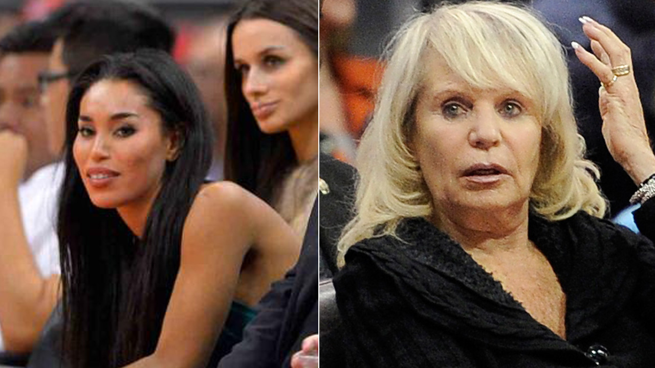V. Stiviano (left) and Shelly Sterling (right) are seen in these undated file photos.