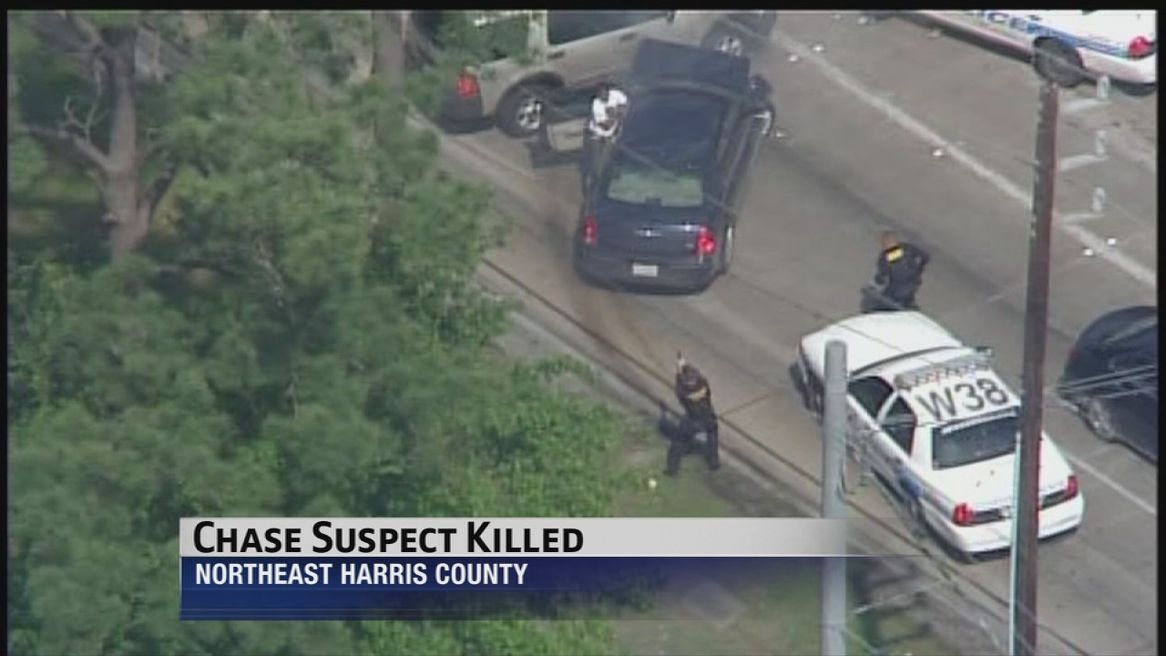 Suspect fatally shot by officers at end of police chase | abc13 com