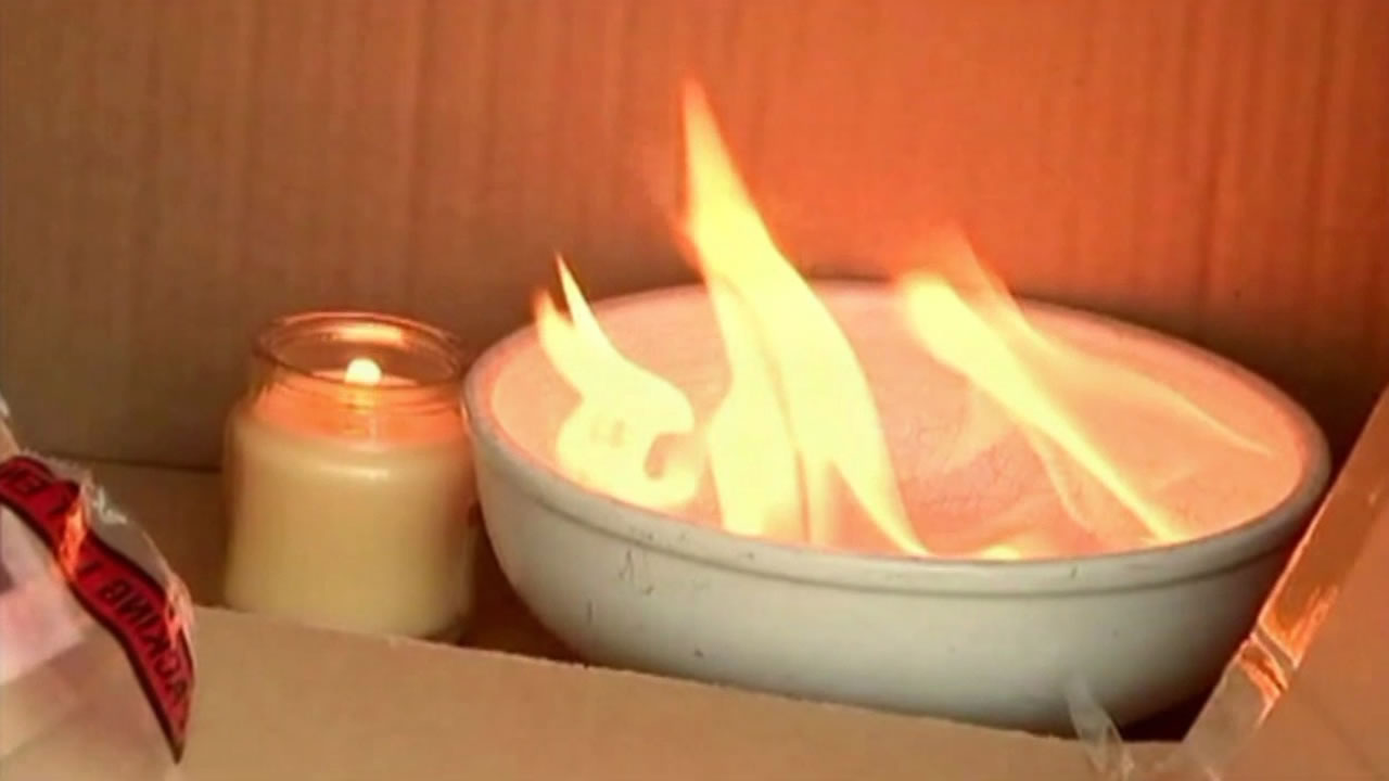 A 20-year-old Texas woman is recovering from third-degree burns after her nail polish remover caught fire.