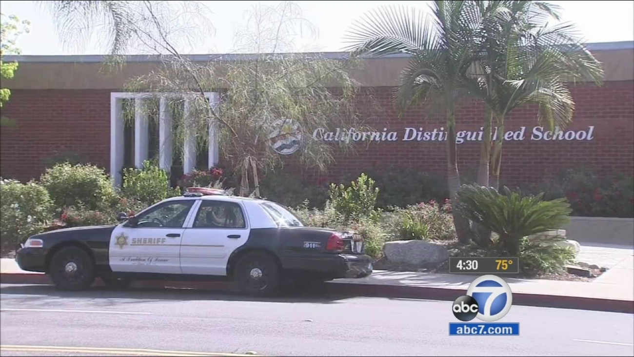 Los Angeles County sheriff's deputies are investigating after a death threat was made against a student at Lone Hill Middle School in San Dimas on Instagram.