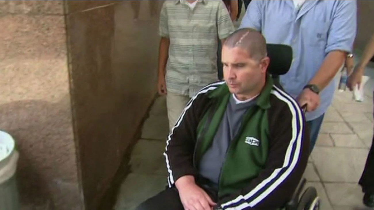 Bryan Stow in his wheelchair