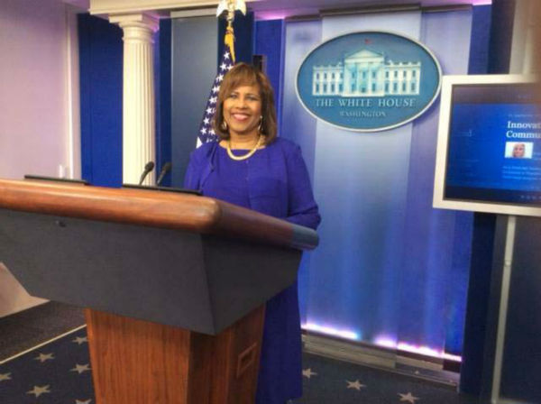 "<div class=""meta image-caption""><div class=""origin-logo origin-image none""><span>none</span></div><span class=""caption-text"">Melanie Lawson at the White House (KTRK Photo)</span></div>"