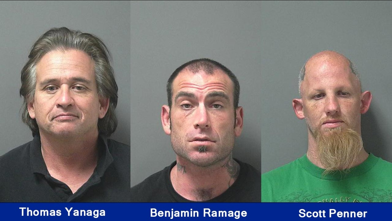 52-year-old Thomas Nolan Yanaga, 33-year-old Benjamin Walter Ramage, 33-year-old Scott William Penner