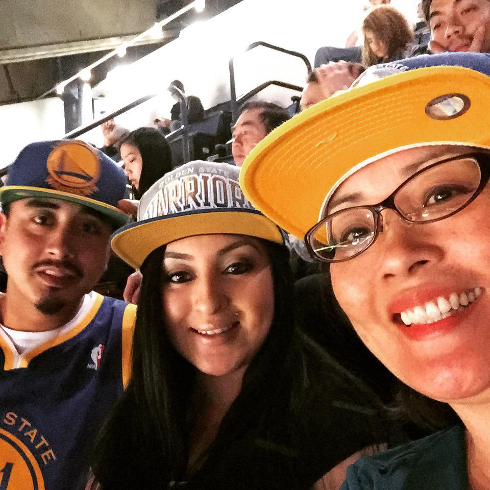 <div class='meta'><div class='origin-logo' data-origin='KGO'></div><span class='caption-text' data-credit='Photo sent to KGO-TV by Deborah S./Twitter'>Deborah S. showed off her Golden State Warriors pride at a game in Oakland, Calif. on April 15, 2015! Send your fan photos to uReport@kgo-tv.com!</span></div>