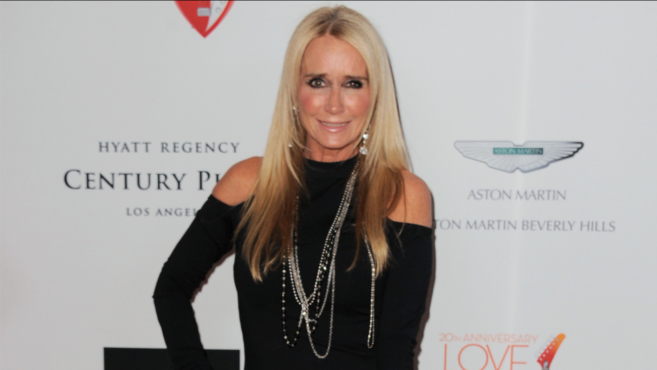 Kim Richards arrives at the 20th annual Race to Erase MS event 'Love to Erase MS' at the Hyatt Regency Century Plaza on Friday, May 3, 2013.