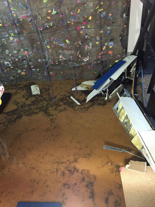 """<div class=""""meta image-caption""""><div class=""""origin-logo origin-image none""""><span>none</span></div><span class=""""caption-text"""">These are photos from a rec center on the campus of Sam Houston state, where a wall collapsed because of high water (Photo/iWitness reports)</span></div>"""