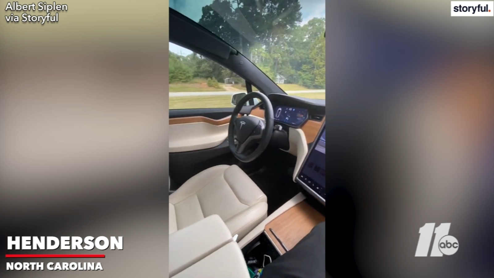VIDEO: Tesla cruises down NC highway without a driver