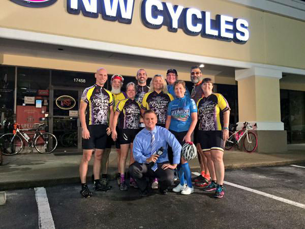 """<div class=""""meta image-caption""""><div class=""""origin-logo origin-image none""""><span>none</span></div><span class=""""caption-text"""">Steve Campion with cyclists who are ready for the BP MS 150 (KTRK Photo)</span></div>"""
