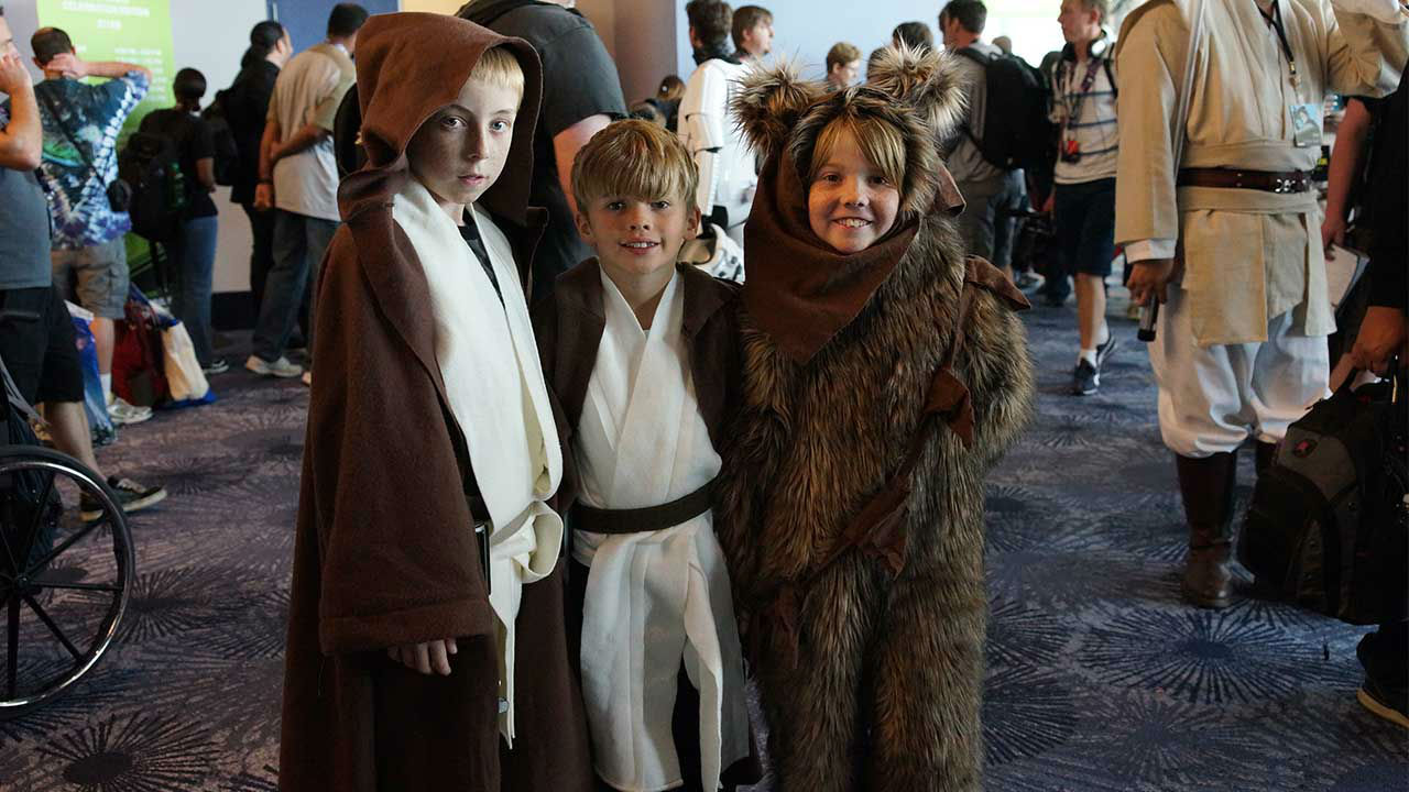 The Force is strong in these ones': Kids in costume take