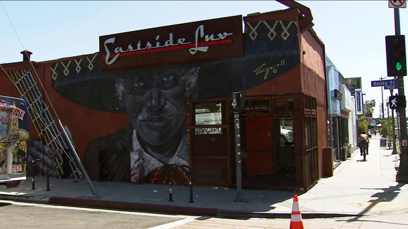 A knife-wielding suspect attempted to rape a woman outside of Eastside Luv bar in the 1800 block of East 1st Street in Boyle Heights Saturday, April 18, 2015.