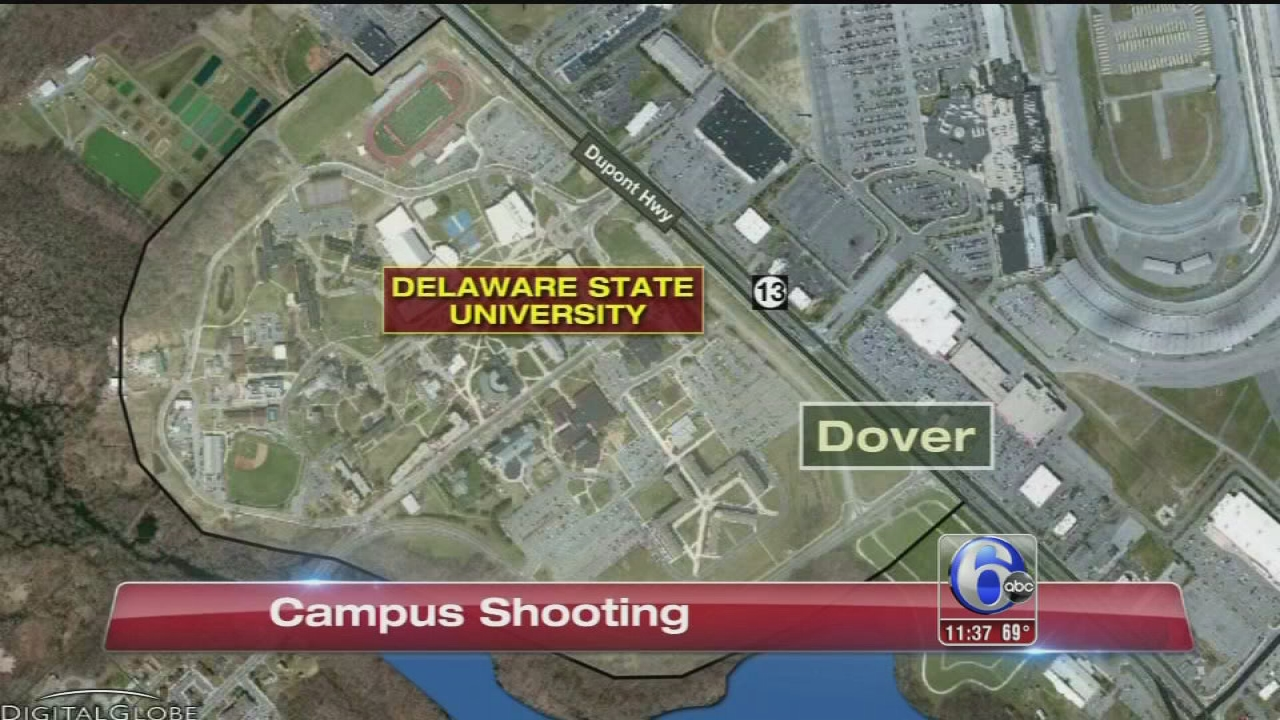 delaware state university campus map 3 Injured In Delaware State University Shooting 6abc Philadelphia delaware state university campus map
